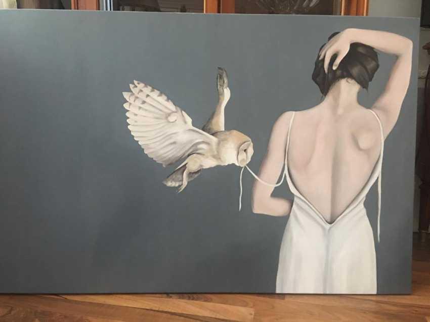 Tatjana Jansberga. The girl with the owl - photo 2