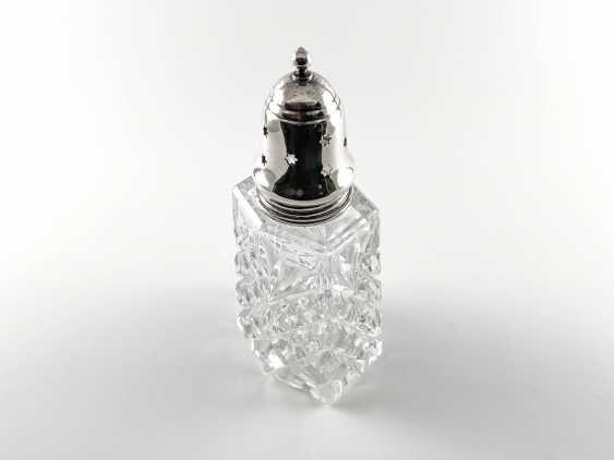 """Crystal sugar bowl with silver """"Piccadilly"""". England, handmade, 1970 - photo 2"""