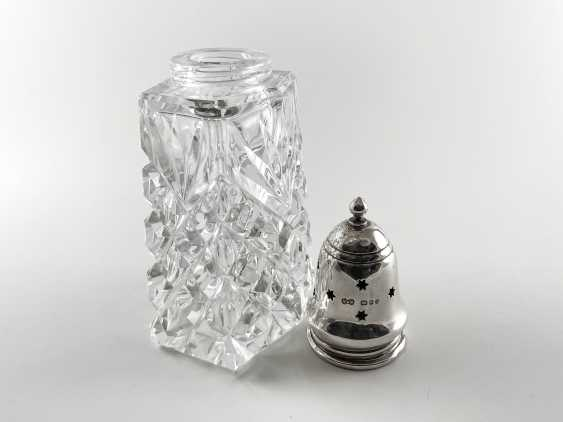 """Crystal sugar bowl with silver """"Piccadilly"""". England, handmade, 1970 - photo 3"""