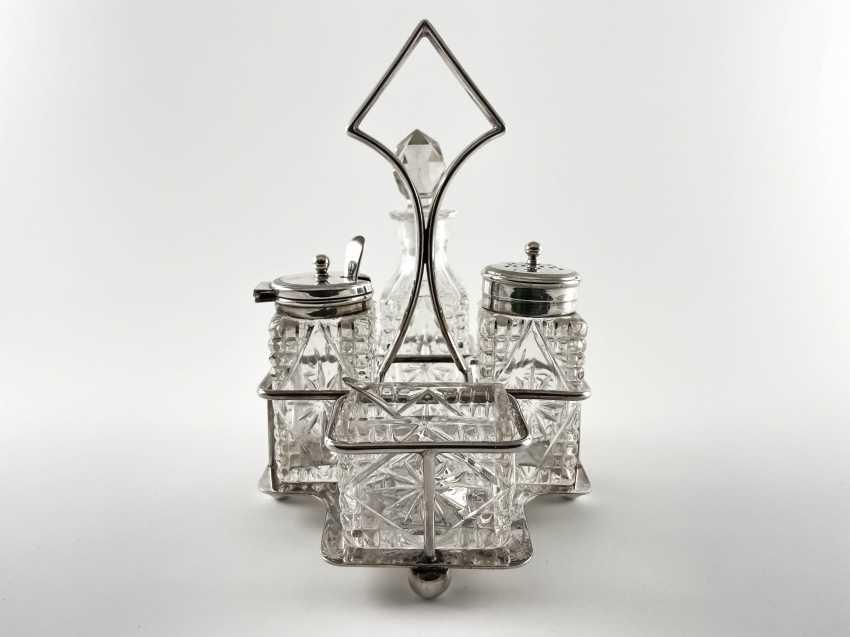 "Cruet spice ""James Dixon"". England, handmade, silver, 1848 - 1878 - photo 1"