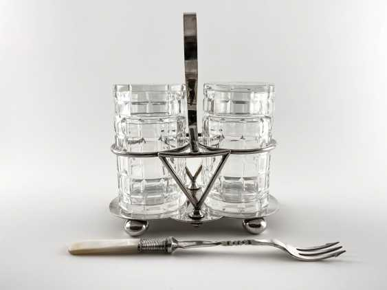 "Set for pickled products ""Deykin & Harrison"". England, silver, handmade, 1895-1913gg. - photo 1"