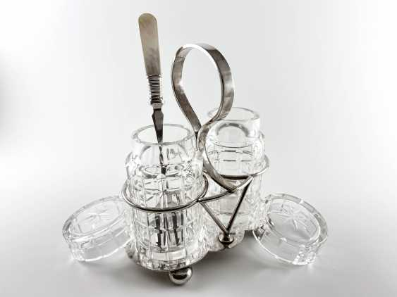 "Set for pickled products ""Deykin & Harrison"". England, silver, handmade, 1895-1913gg. - photo 2"