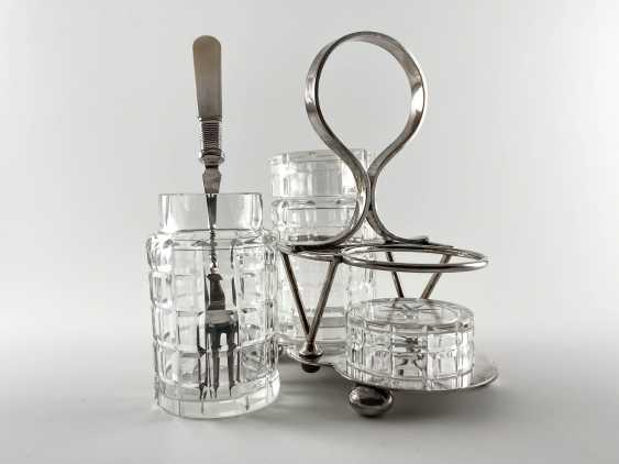 "Set for pickled products ""Deykin & Harrison"". England, silver, handmade, 1895-1913gg. - photo 4"