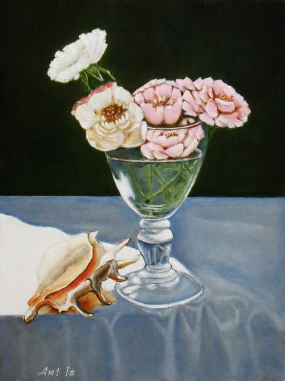 """Artur Isayan. """"Still life with flowers and sea shell"""" - photo 1"""