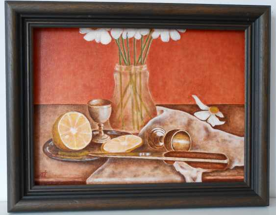 "Artur Isayan. ""Still life with flowers, lemon and silverware"" - photo 1"