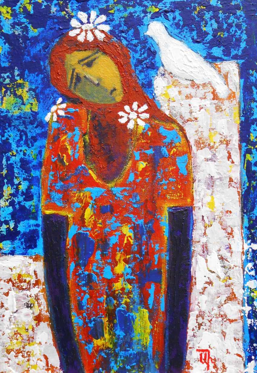 """Artur Isayan. """"La jeune fille et la colombe"""" - photo 1"""