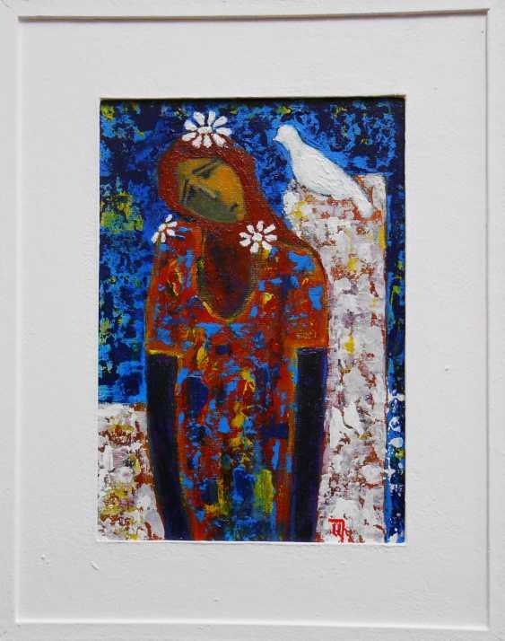 """Artur Isayan. """"La jeune fille et la colombe"""" - photo 2"""
