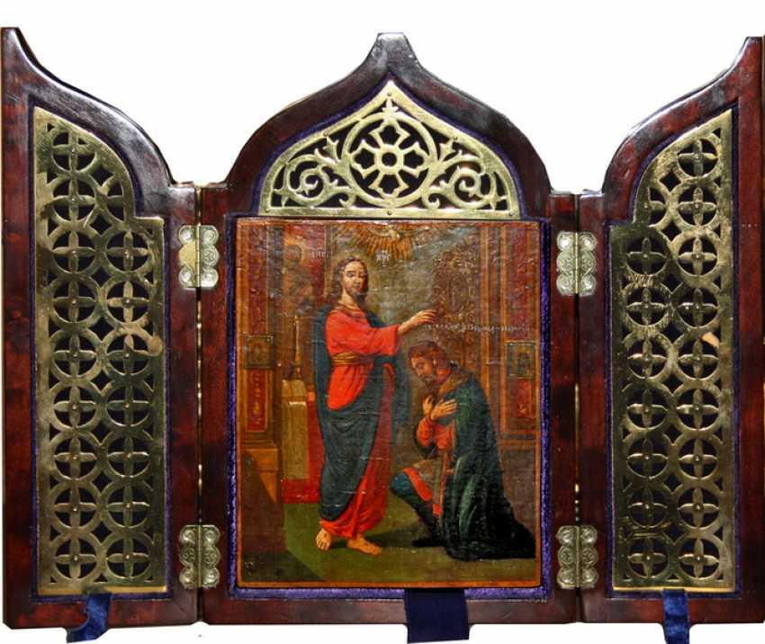 Ikone Des Heiligen.Fürst Igor Kon. HIH das Jh. - Foto 2