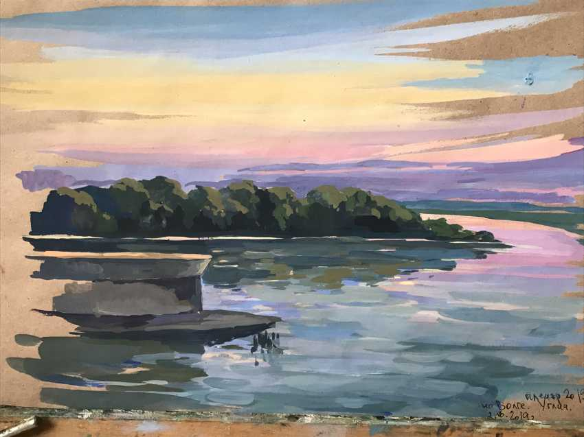 "Olga Gileva. ""Sunset on the Volga. Uglich"" - photo 1"