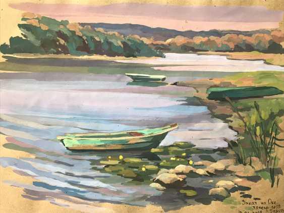 "Olga Gileva. ""Evening on the Oka river. Tarusa"" - photo 1"