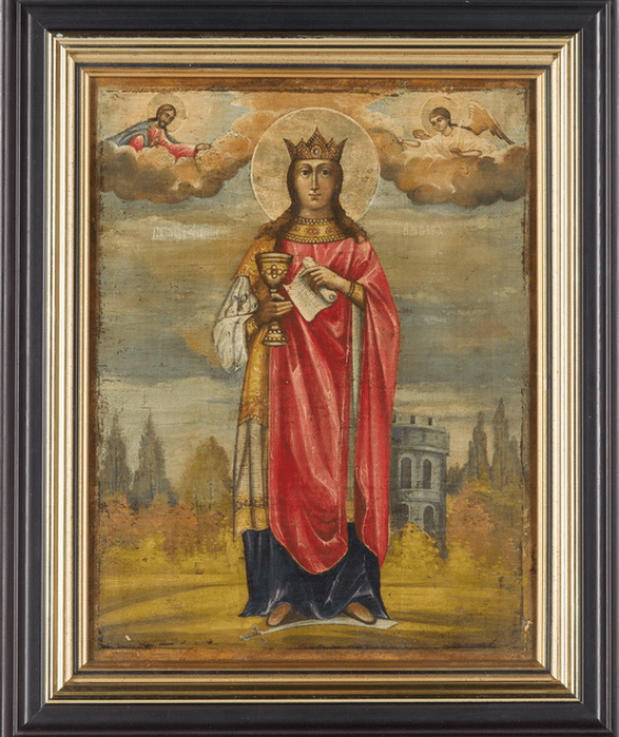 """Icon """"The Holy Great Martyr Barbara"""" - photo 1"""