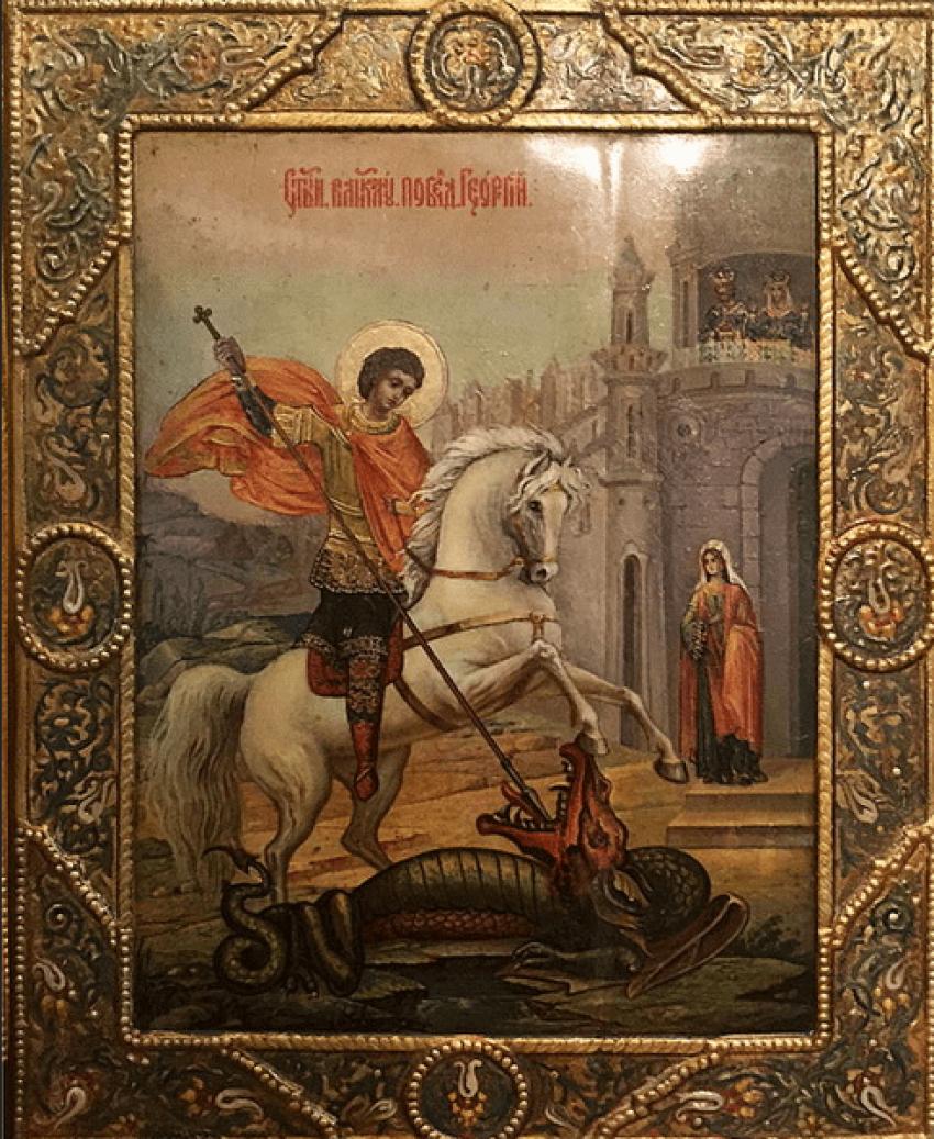 """Icon """"Svyatoy Georgiy Pobedonosets"""" - photo 1"""