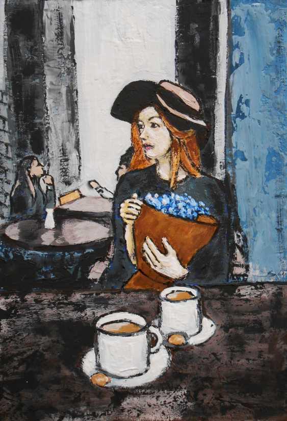 "Artur Isayan. ""In a Paris cafe"" - photo 2"