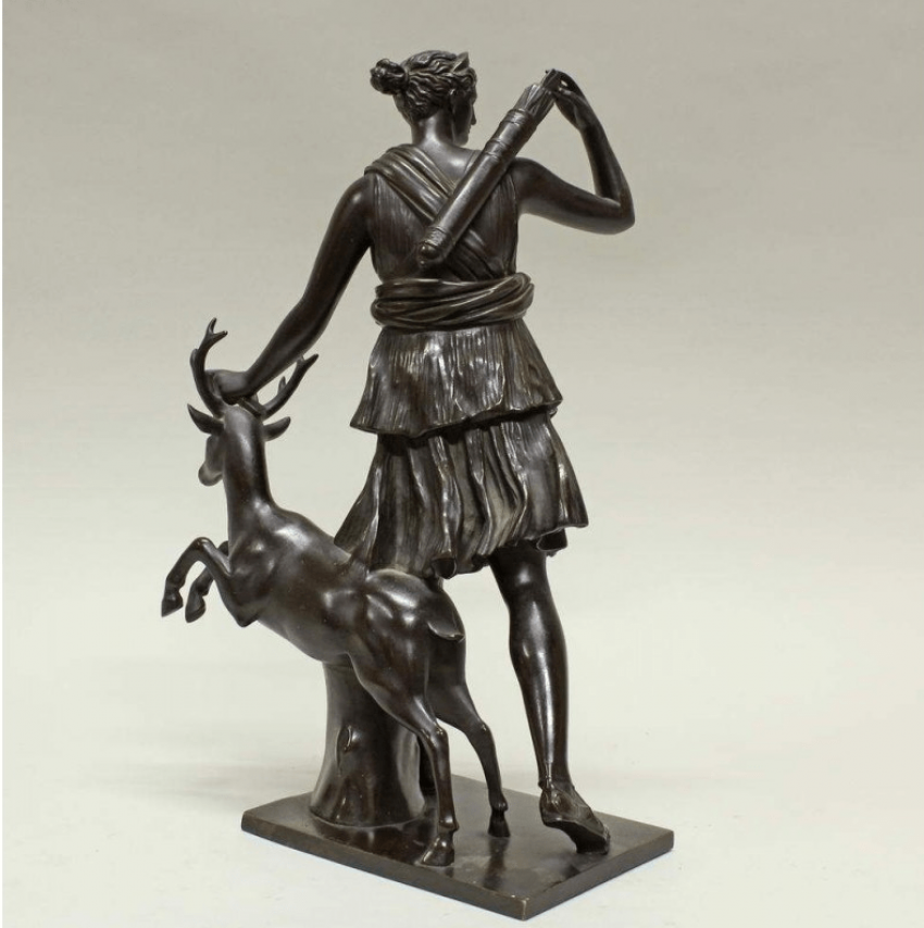 Statue Diana Goddess of the Hunt the 19th century - photo 2