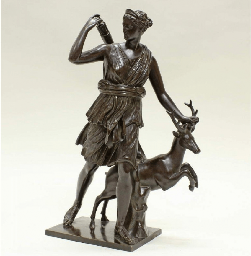 Statue Diana Goddess of the Hunt the 19th century - photo 1