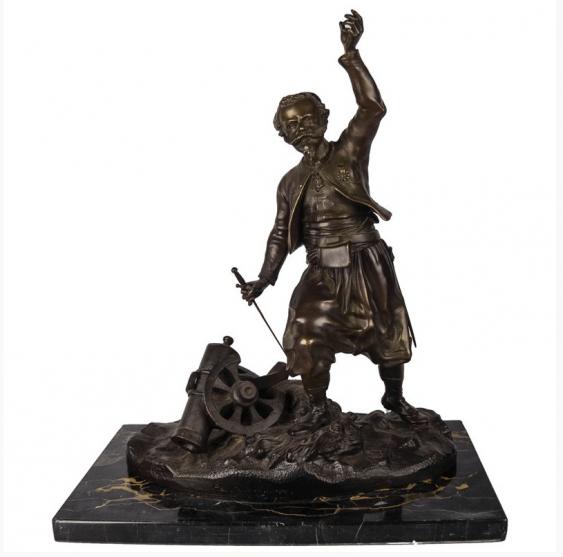 """The Sculpture """" The Gunner """"1900 Berlin - photo 1"""