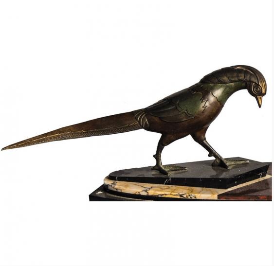 """The sculpture """" Pheasants """"Paris Art Deco - photo 2"""