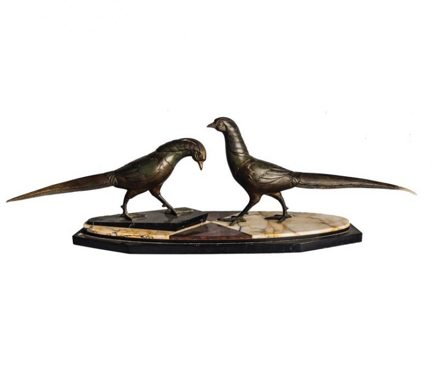 """The sculpture """" Pheasants """"Paris Art Deco - photo 1"""