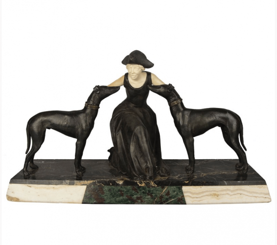 """The sculpture """" Lady with dogs """" - photo 1"""