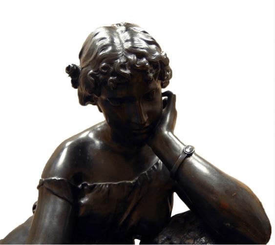 """Bronze Sculpture -"""" La Lecture"""" - photo 3"""
