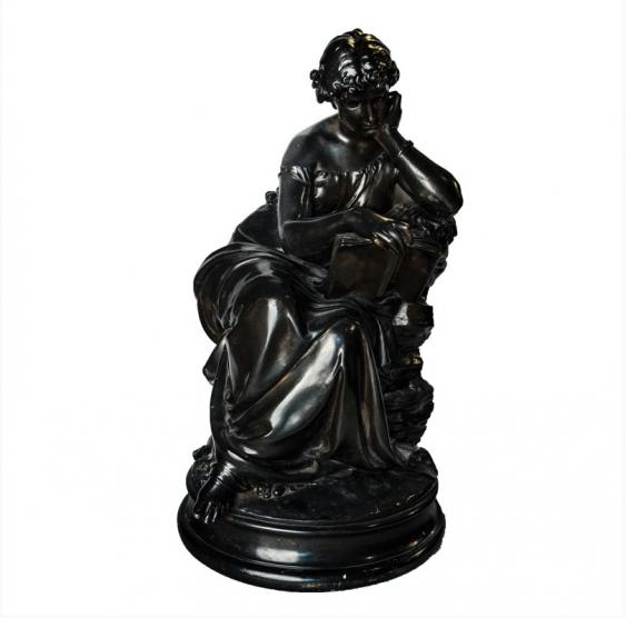 """Bronze Sculpture -"""" La Lecture"""" - photo 1"""