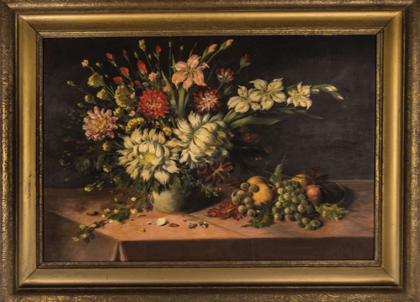 """The painting """"still life with flowers"""" - photo 1"""