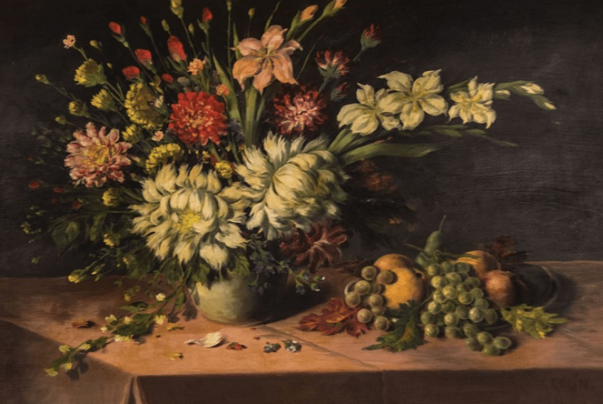 """The painting """"still life with flowers"""" - photo 2"""