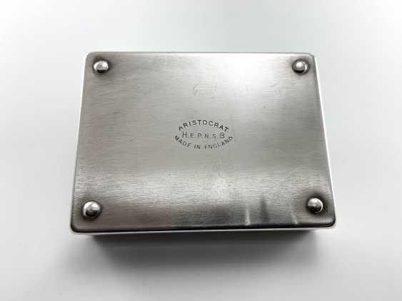 "Box-humidor ""Aristocrat"". England, Harman Brothers, silver, 1921 - 1965. - photo 4"