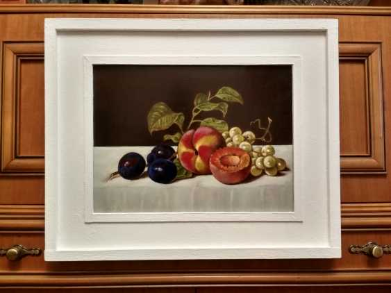 "Artur Isayan. ""Still life with peach, plum and grapes"" - photo 2"