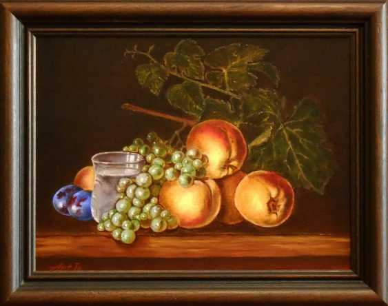 "Artur Isayan. ""Nature morte à la pêche, raisin, prune"" - photo 1"