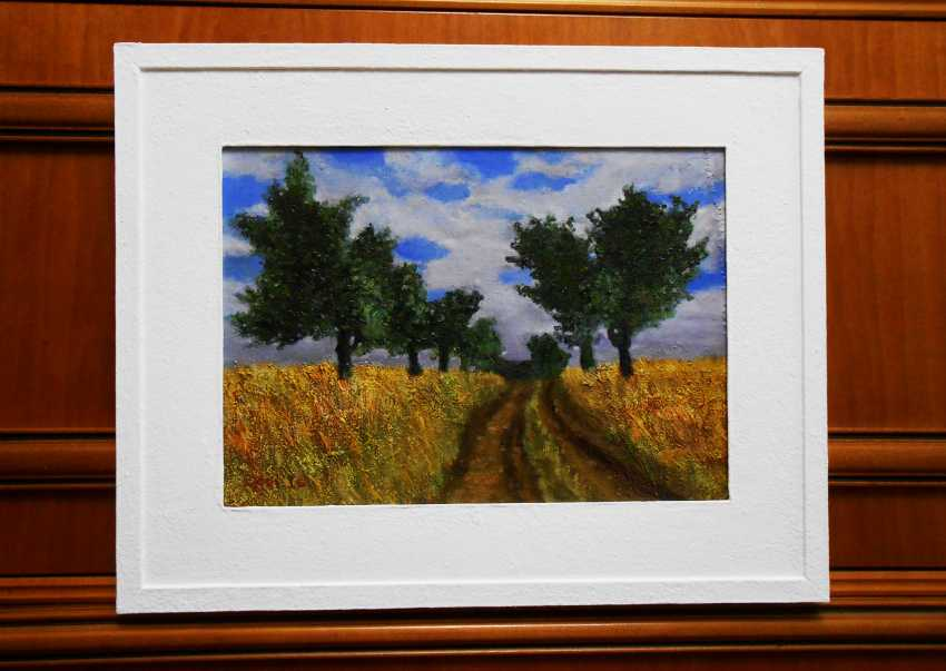 """Artur Isayan. The painting in the frame """"Rural landscape"""" - photo 1"""