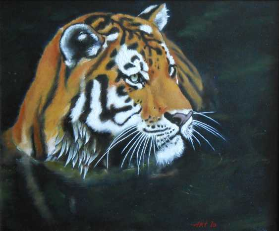 """Artur Isayan. """"Tiger in the river"""" - photo 1"""