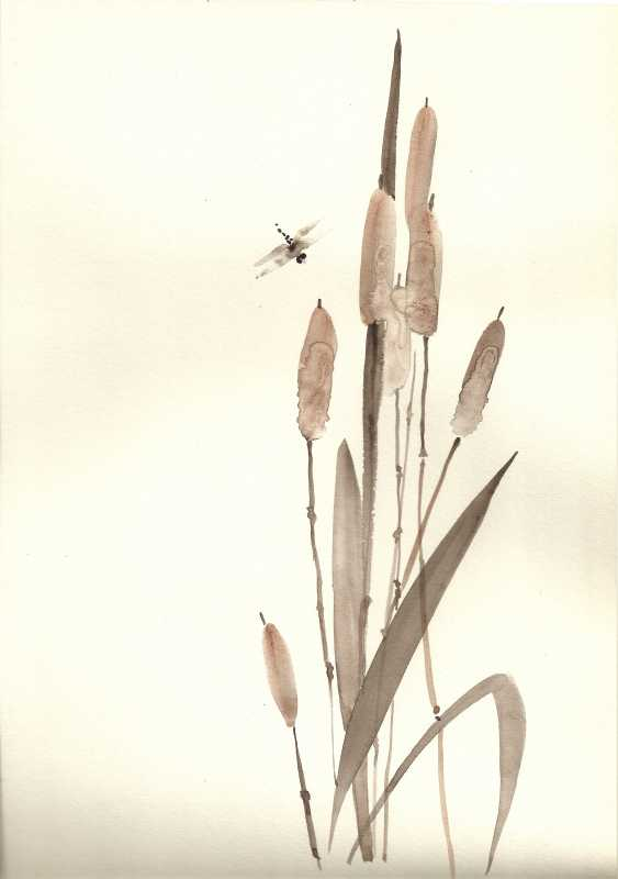 Natasha Mishareva. Reeds and a dragonfly. 2020. Handmade. The Author - Natalia Pisareva - photo 1