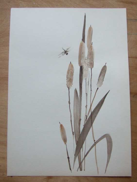 Natasha Mishareva. Reeds and a dragonfly. 2020. Handmade. The Author - Natalia Pisareva - photo 2
