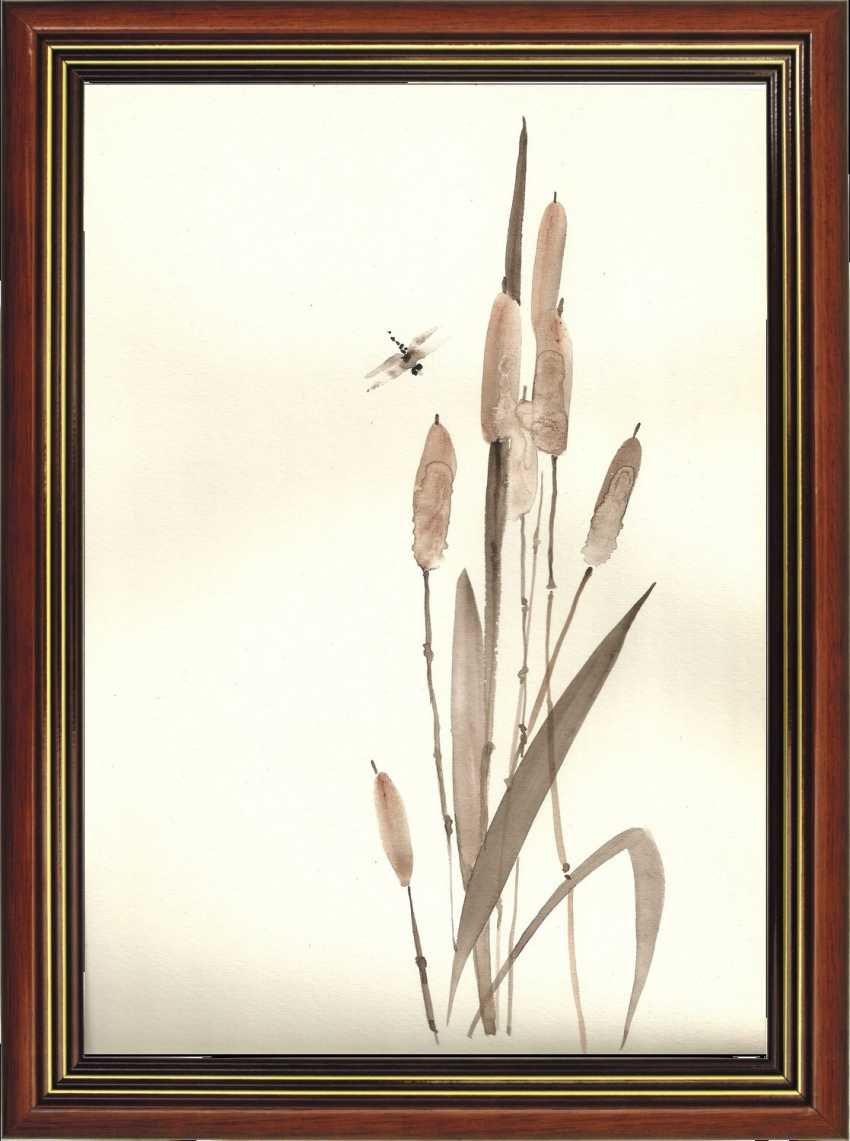 Natasha Mishareva. Reeds and a dragonfly. 2020. Handmade. The Author - Natalia Pisareva - photo 4
