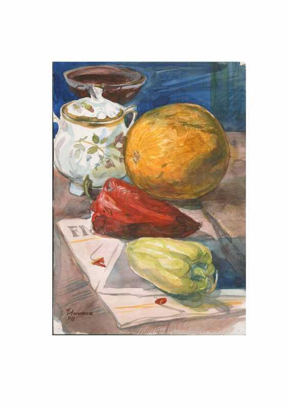 Eduard Ishmaev-Nashev. Red pepper and Golden pumpkin - photo 1
