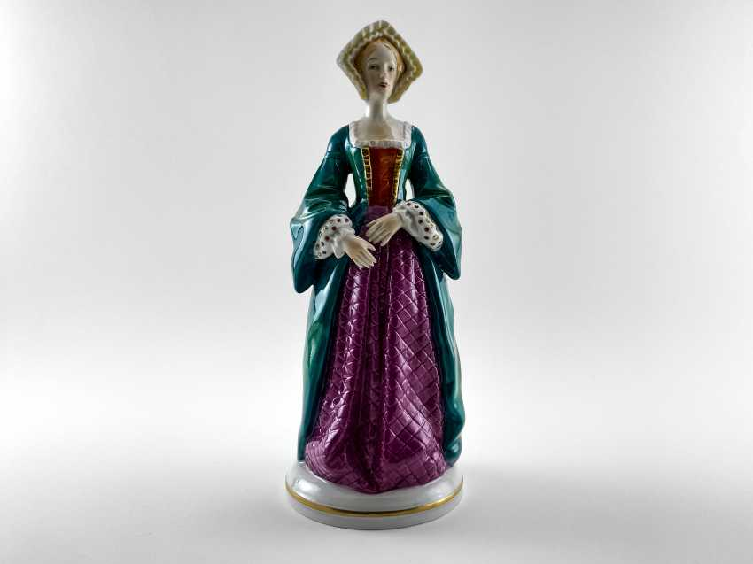 "Porcelain figurines ""Henry VIII and his wives"". Germany, Sitzendorf, handmade, 1918 - 1949 gg. - photo 5"