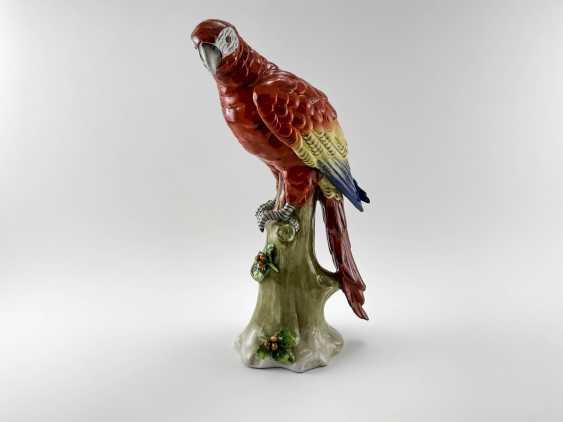 "Porcelain figurine ""Parrot"". Germany, Sitzendorf, handmade, 1918-1949gg. - photo 1"