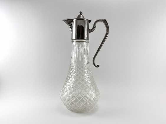 "Vintage jug ""Drop"". England, glass, silver, 1950 - photo 1"