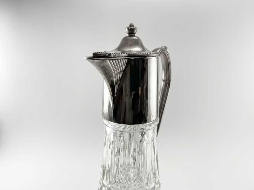 "Vintage jug ""Drop"". England, glass, silver, 1950 - photo 2"