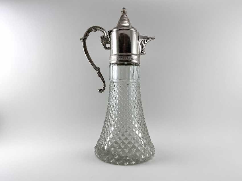 "Vintage jug ""Ship"". Europe, glass, silver, 1960s - photo 1"
