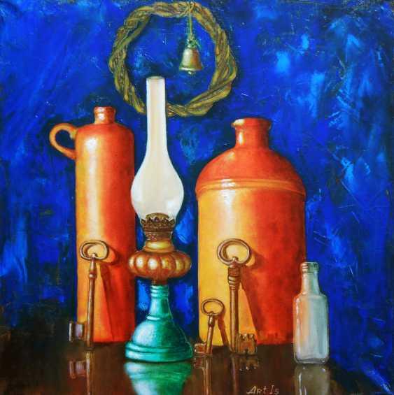 "Artur Isayan. ""Still life with bottles, keys, and an old kerosene lamp "" - photo 1"