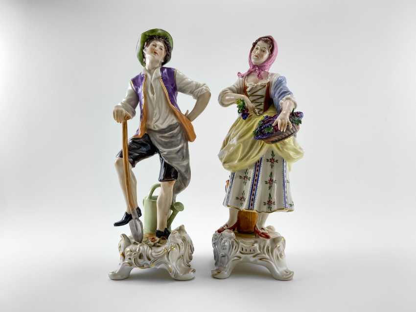 """Porcelain figurine """"the Gardener"""". Germany, Rudolf Kämmer, handmade, 1953-1972 - photo 1"""