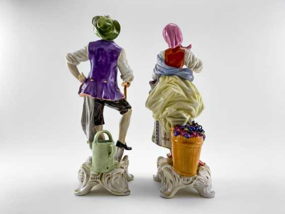 """Porcelain figurine """"the Gardener"""". Germany, Rudolf Kämmer, handmade, 1953-1972 - photo 3"""