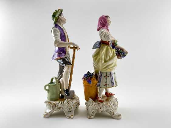 """Porcelain figurine """"the Gardener"""". Germany, Rudolf Kämmer, handmade, 1953-1972 - photo 4"""