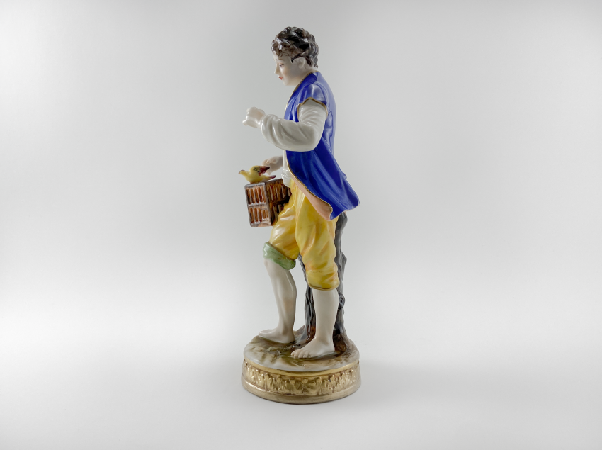 """Porcelain figurine of a """"Birder"""", Germany, Volkstedt, perfect condition, 1945 - 1951 - photo 2"""