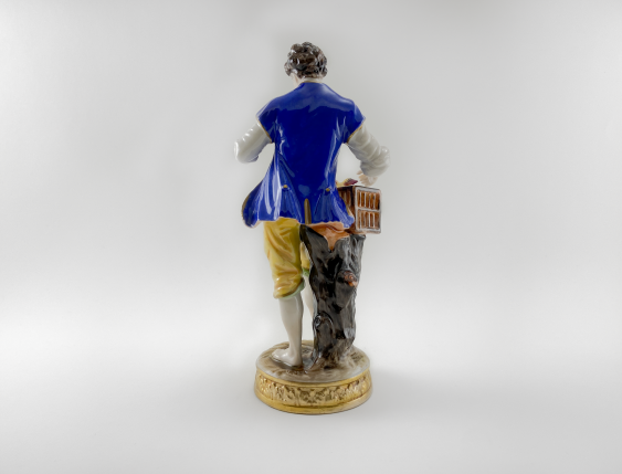 """Porcelain figurine of a """"Birder"""", Germany, Volkstedt, perfect condition, 1945 - 1951 - photo 3"""