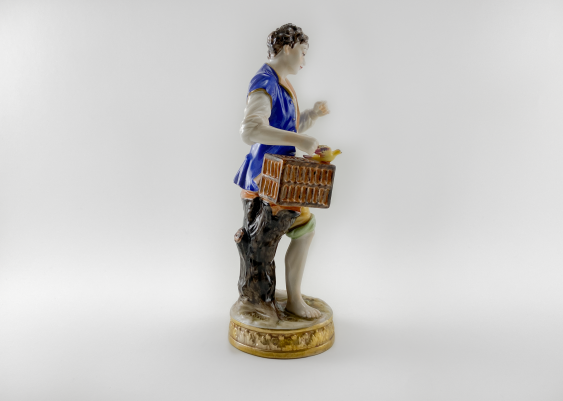 """Porcelain figurine of a """"Birder"""", Germany, Volkstedt, perfect condition, 1945 - 1951 - photo 4"""