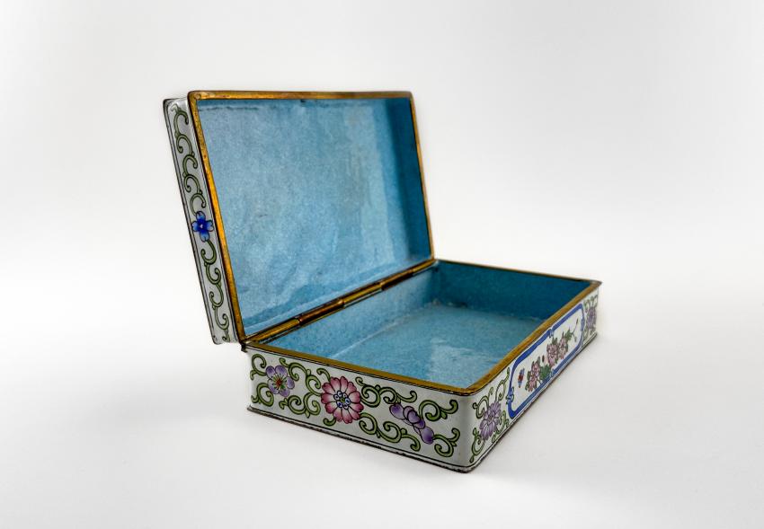 "Box ""of Cubao"", painted enamel, Canton enamel, China, handmade, first half 20th century - photo 2"