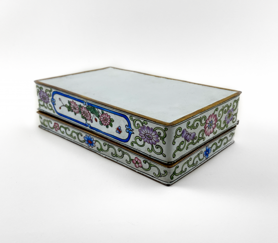 "Box ""of Cubao"", painted enamel, Canton enamel, China, handmade, first half 20th century - photo 3"